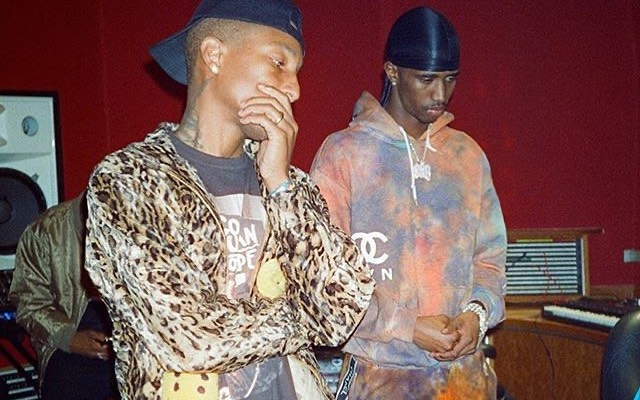 SPOTTED: Pharrell & Christian Combs Hit The Studio