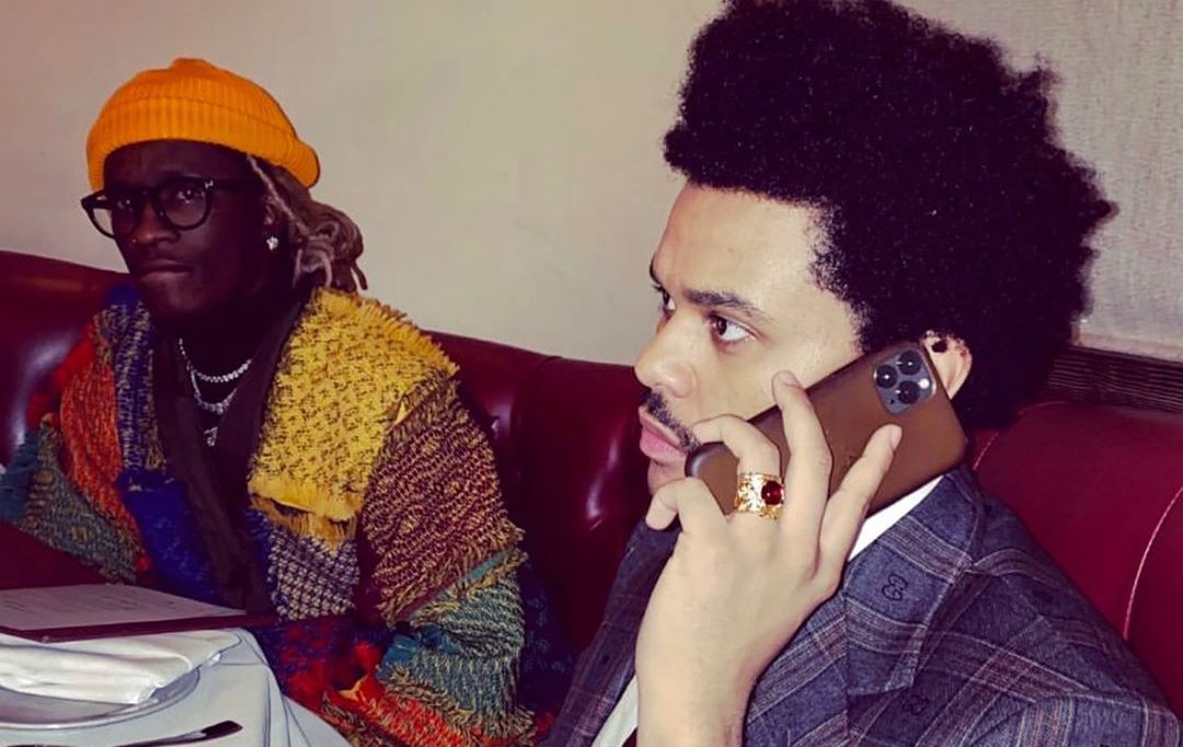 SPOTTED: Young Thug & The Weeknd Grab Dinner In L.A.