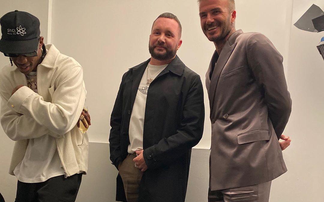 SPOTTED: Kim Jones, Travis Scott & David Beckham Backstage At Dior's Miami Show