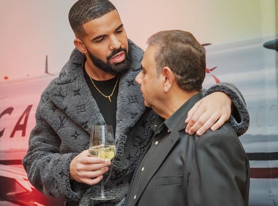 SPOTTED: Drake in Louis Vuitton Shearling Coat at Christmas Event