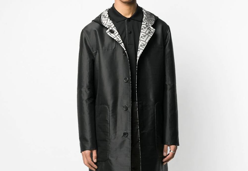 PAUSE or Skip: Fendi Reversible FF Hooded Trench Coat