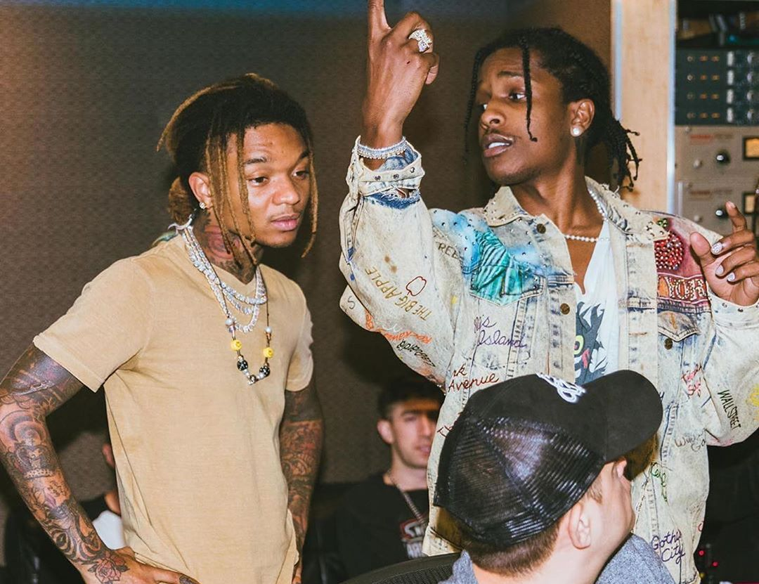 SPOTTED: ASAP Rocky dons Worstok in the Studio with Swaelee