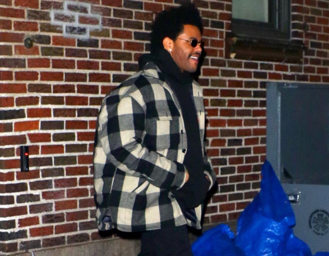 SPOTTED: The Weeknd in Flannel Jacket & Heron Preston Boots