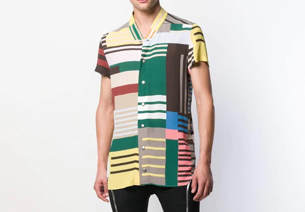 PAUSE or Skip: Rick Owens Striped Short Sleeve Shirt