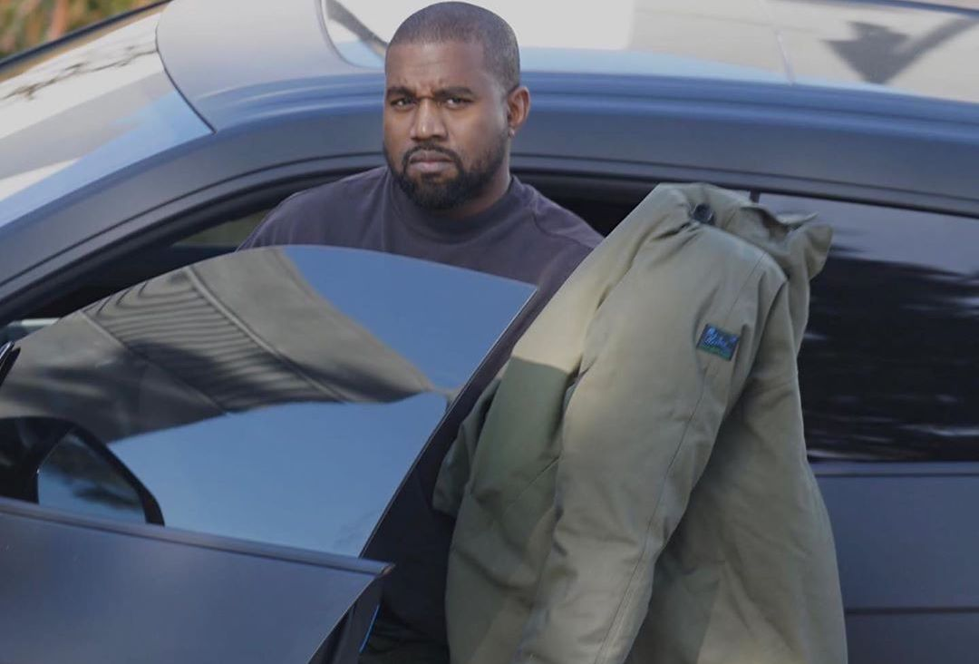 SPOTTED: Kanye West Rocks Raf Simons Jacket & Prada Pants Out In Calabasas