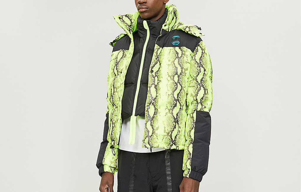 PAUSE or Skip: OFF-WHITE Snakeskin Print Shell Jacket
