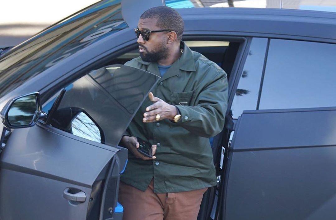 SPOTTED: Kanye West Keeps things Tonal in Prada & Yeezy