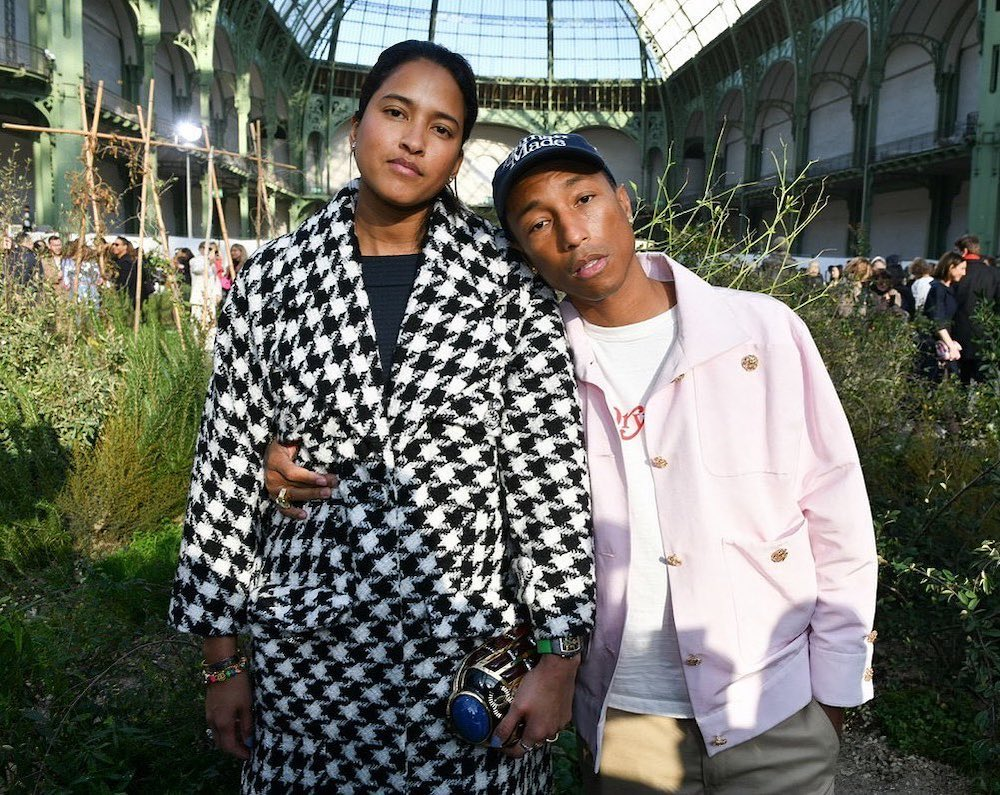 SPOTTED: Pharrell attends Chanel Couture show in Paris