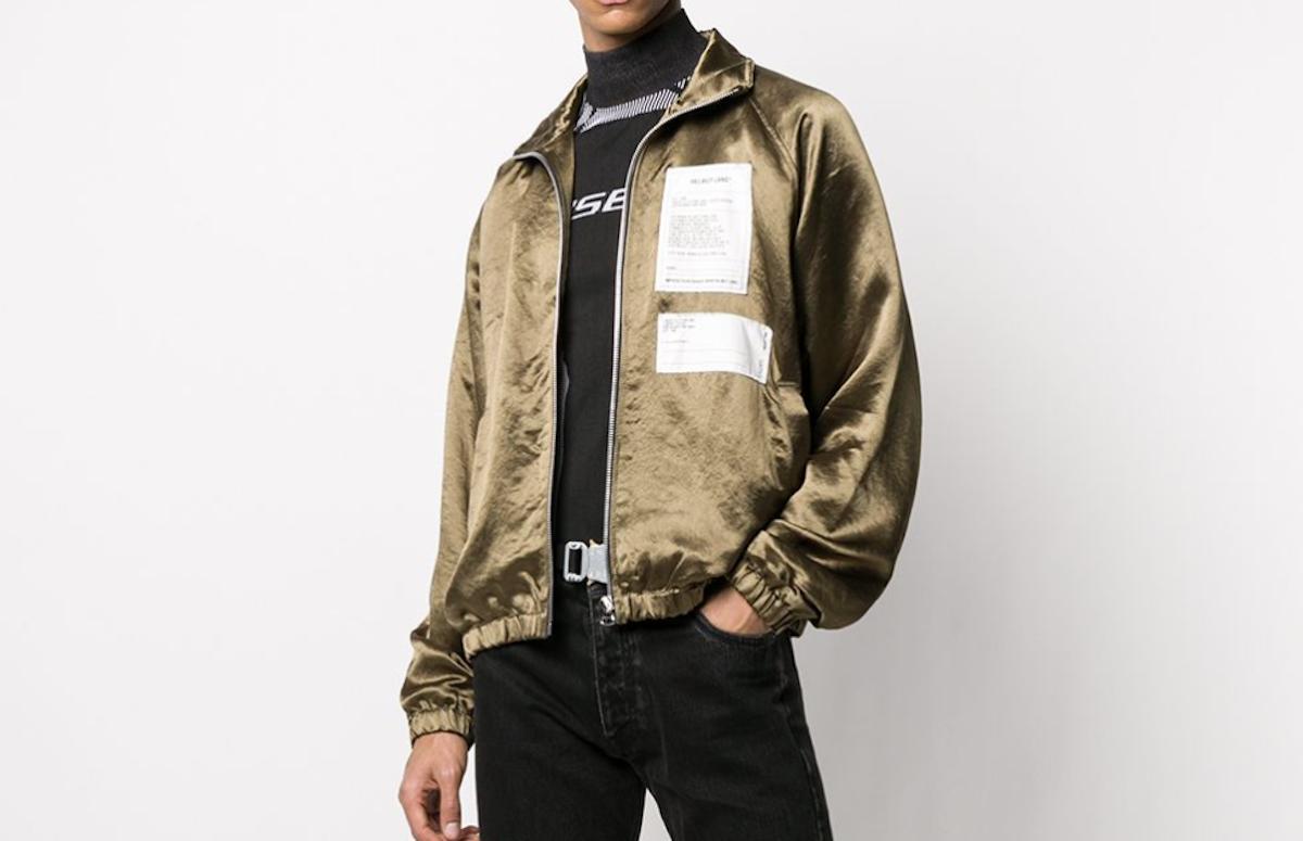 PAUSE or Skip: Helmut Lang Bronze Multi-Patch Jacket