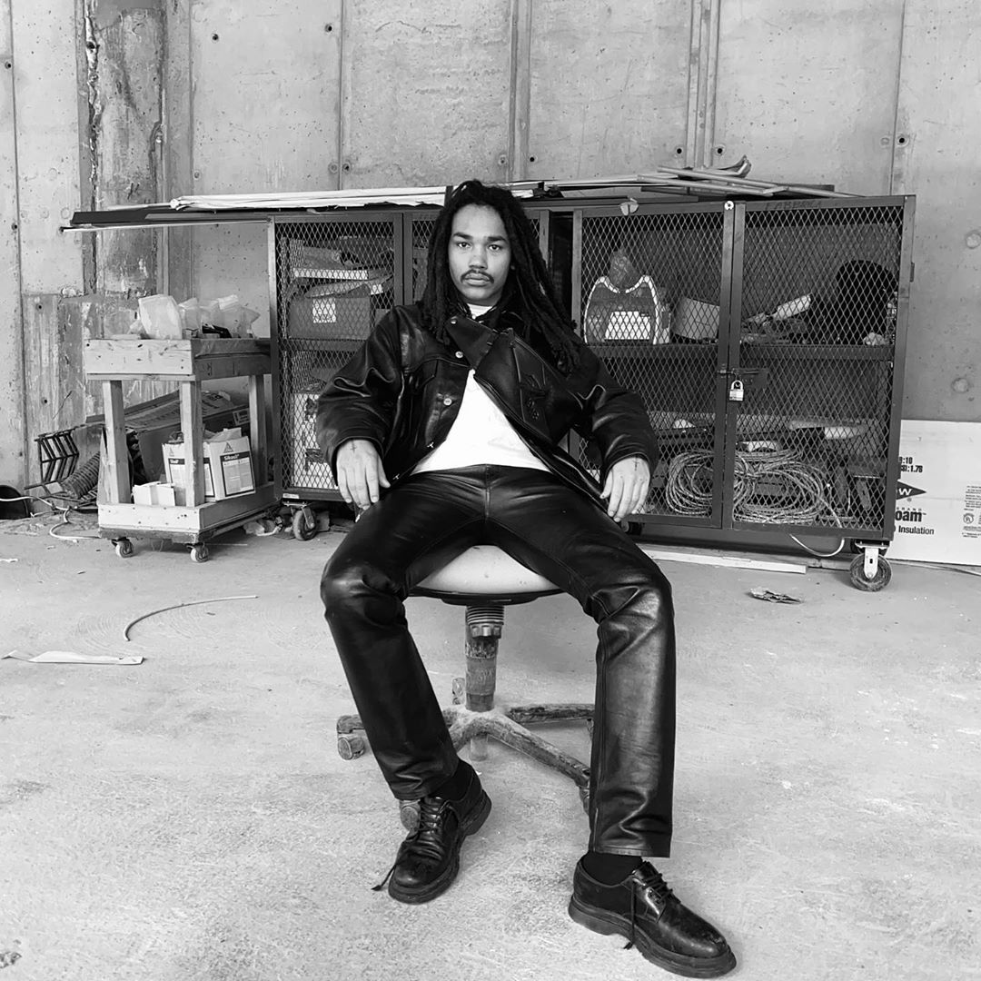 SPOTTED: Luka Sabbat in All-Black Leather & Longchamp Bag