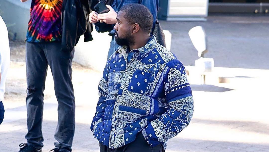 SPOTTED: Kanye West Sports Visvim Jackets, Dickies & YEEZY Slides