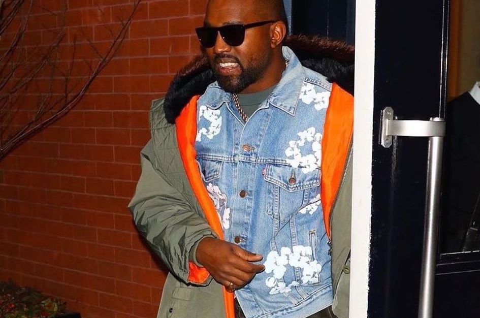 SPOTTED: Kanye West steps out on in Yeezy & Denim Tears x Levi's