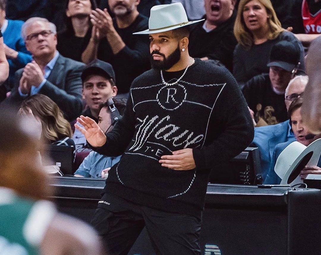 SPOTTED: Drake wears archive Raf Simons & Supreme x Nike to Scotiabank Arena