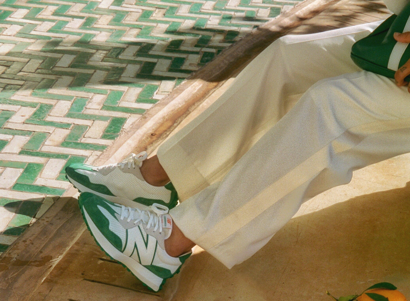 Take A Look At The Casablanca x New Balance 327 Sneakers