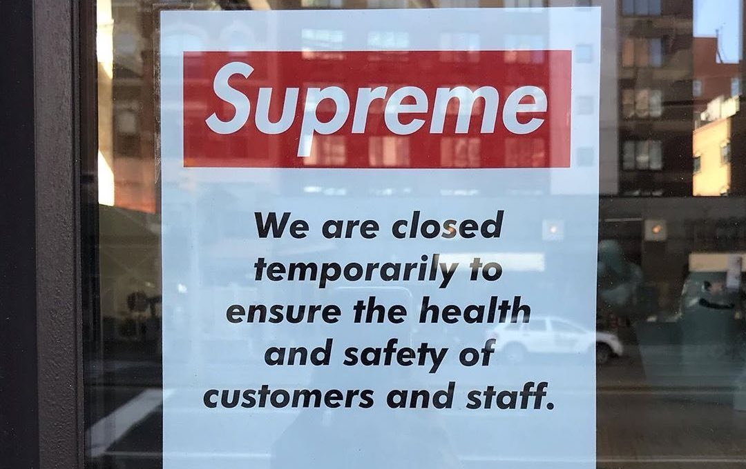 Supreme Is Latest Store To Close All Stores Due To Coronavirus