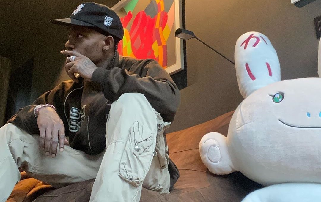 SPOTTED: Travis Scott Flaunts Unreleased Stussy x Nike Air Zoom Spiridon