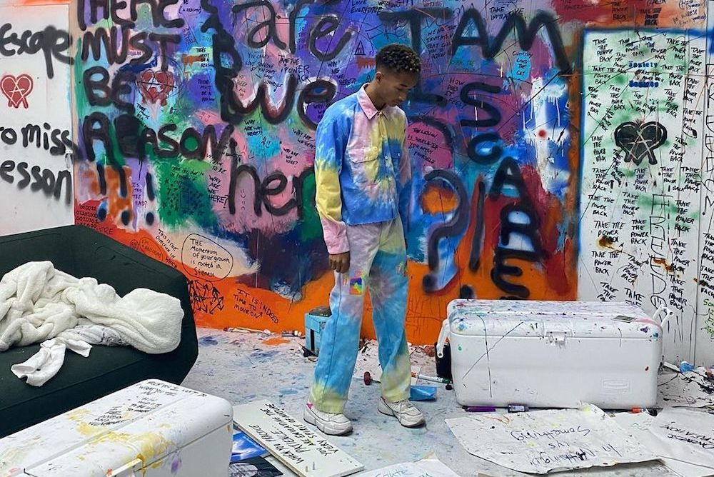 SPOTTED: Jaden Smith dons dyed denim to Willows THE ANXIETY Exhibit