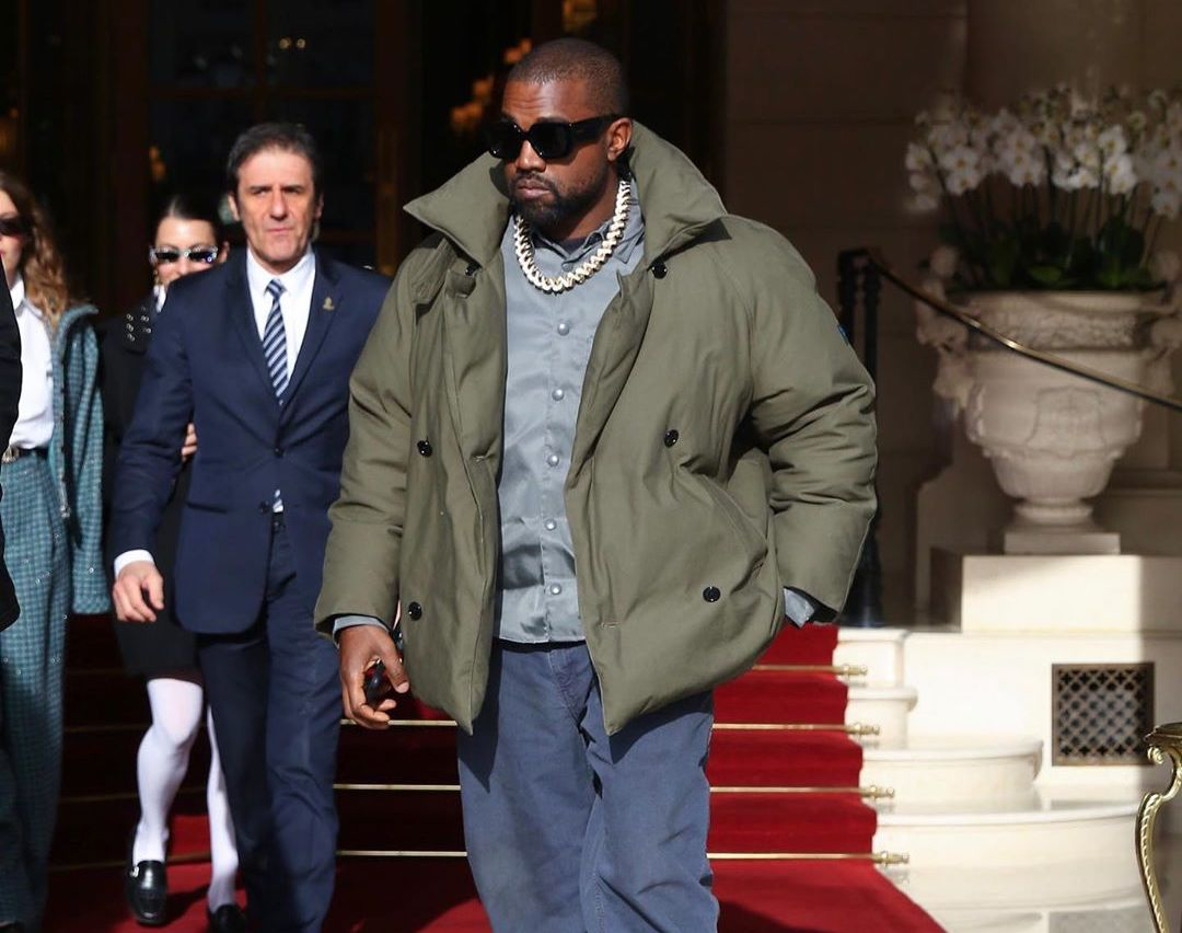 SPOTTED: Kanye West hits Paris in Raf Simons after YEEZY Show