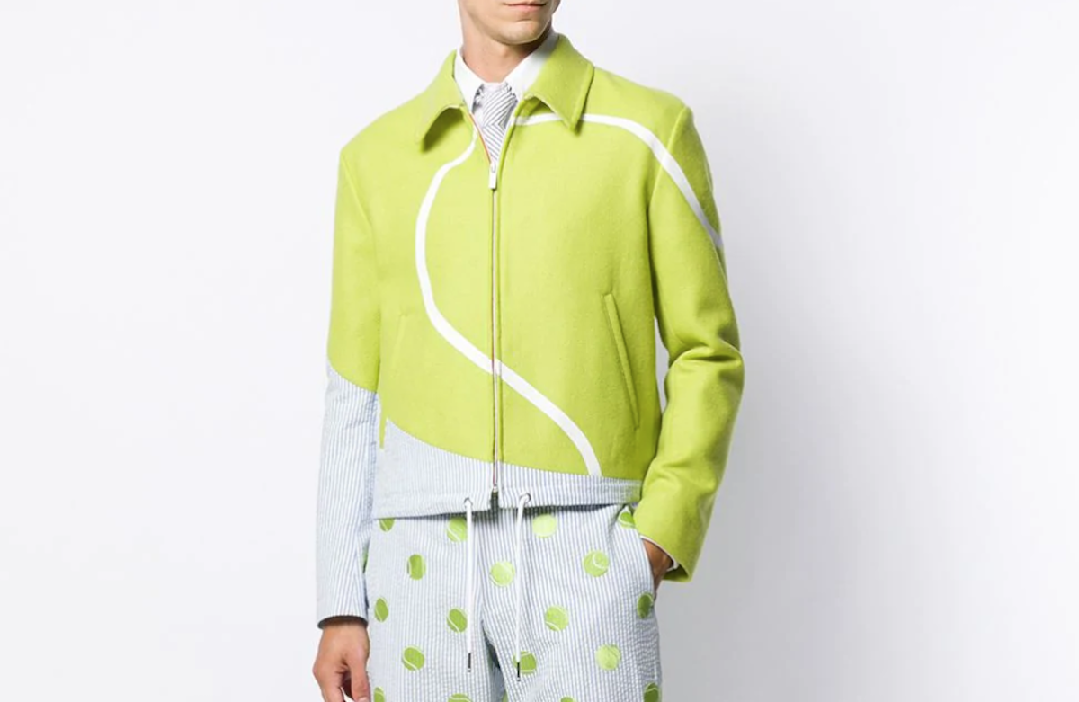 PAUSE or Skip: Thom Browne Seersucker Tennis Intarsia Jacket