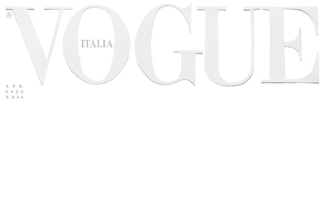 Vogue Italia Goes All-White for April 2020 Issue