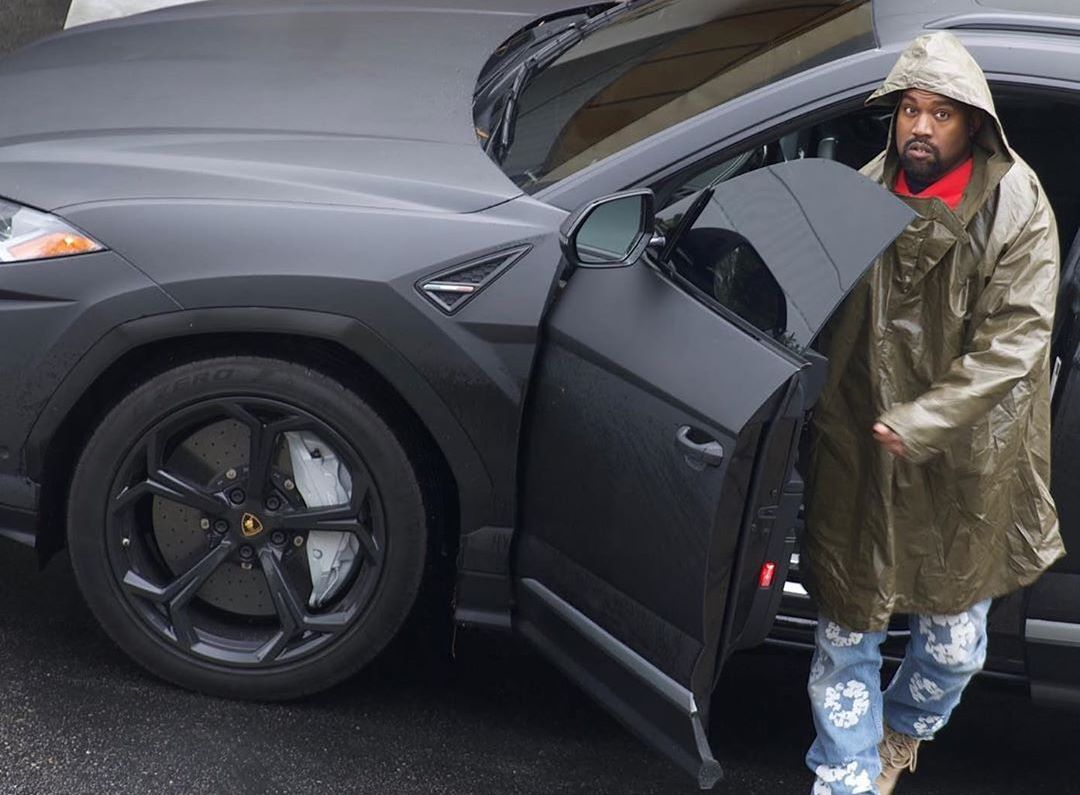 SPOTTED: Kanye West in Denim Tears x Levis & YEEZY Boots