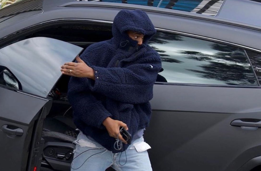 SPOTTED: Kanye West Steps out in YEEZY Season 8, Martine Rose & Levi's
