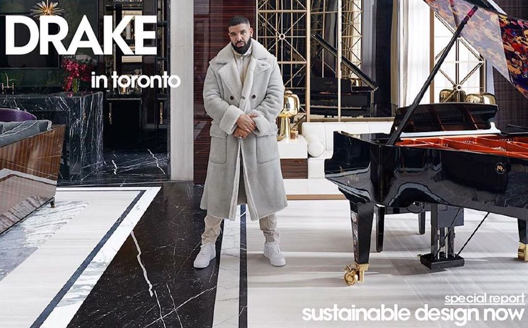 SPOTTED: Drake Covers Architectural Digest May 2020 Issue