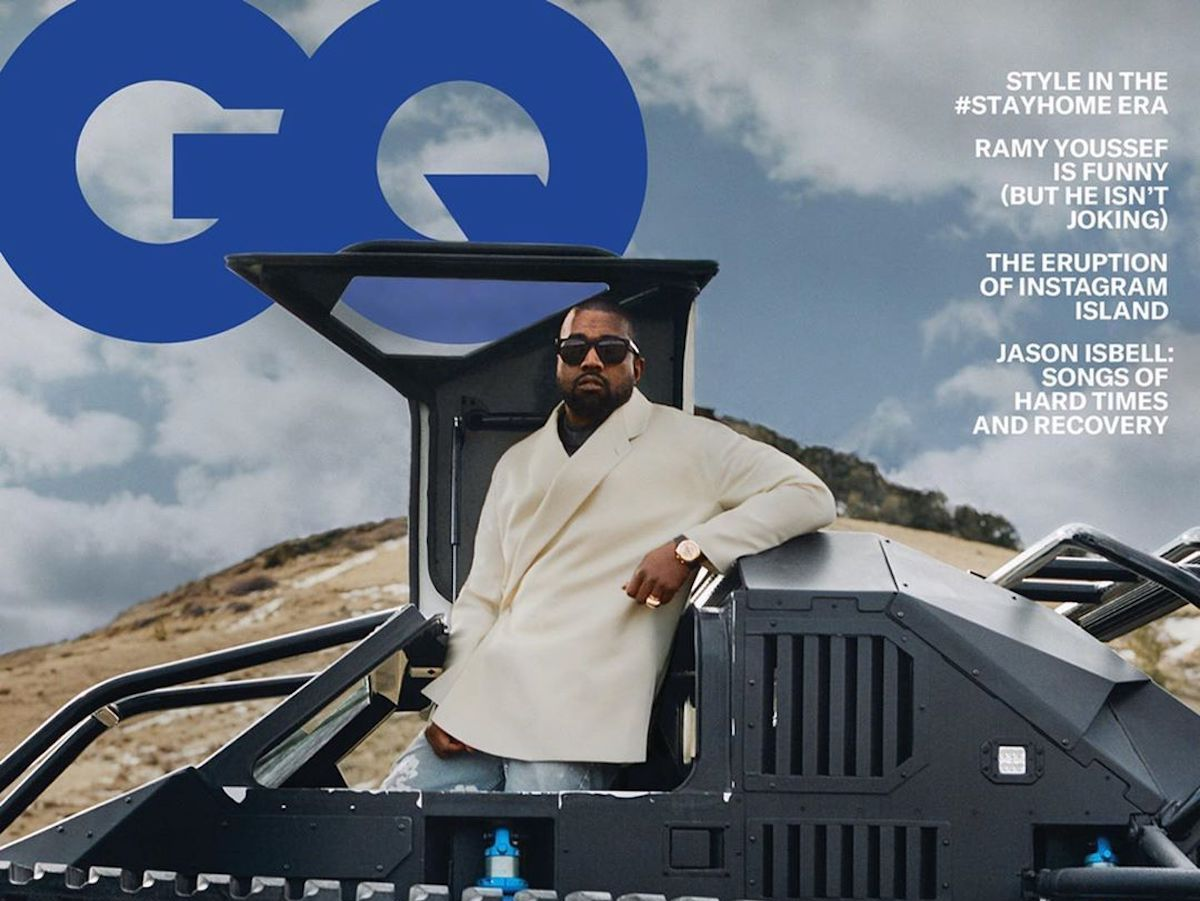Kanye West fronts American GQ's May 2020 Issue