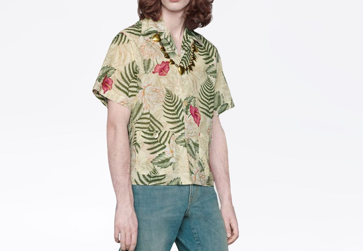 PAUSE or Skip: Gucci Leaf-Print Short Sleeved Shirt