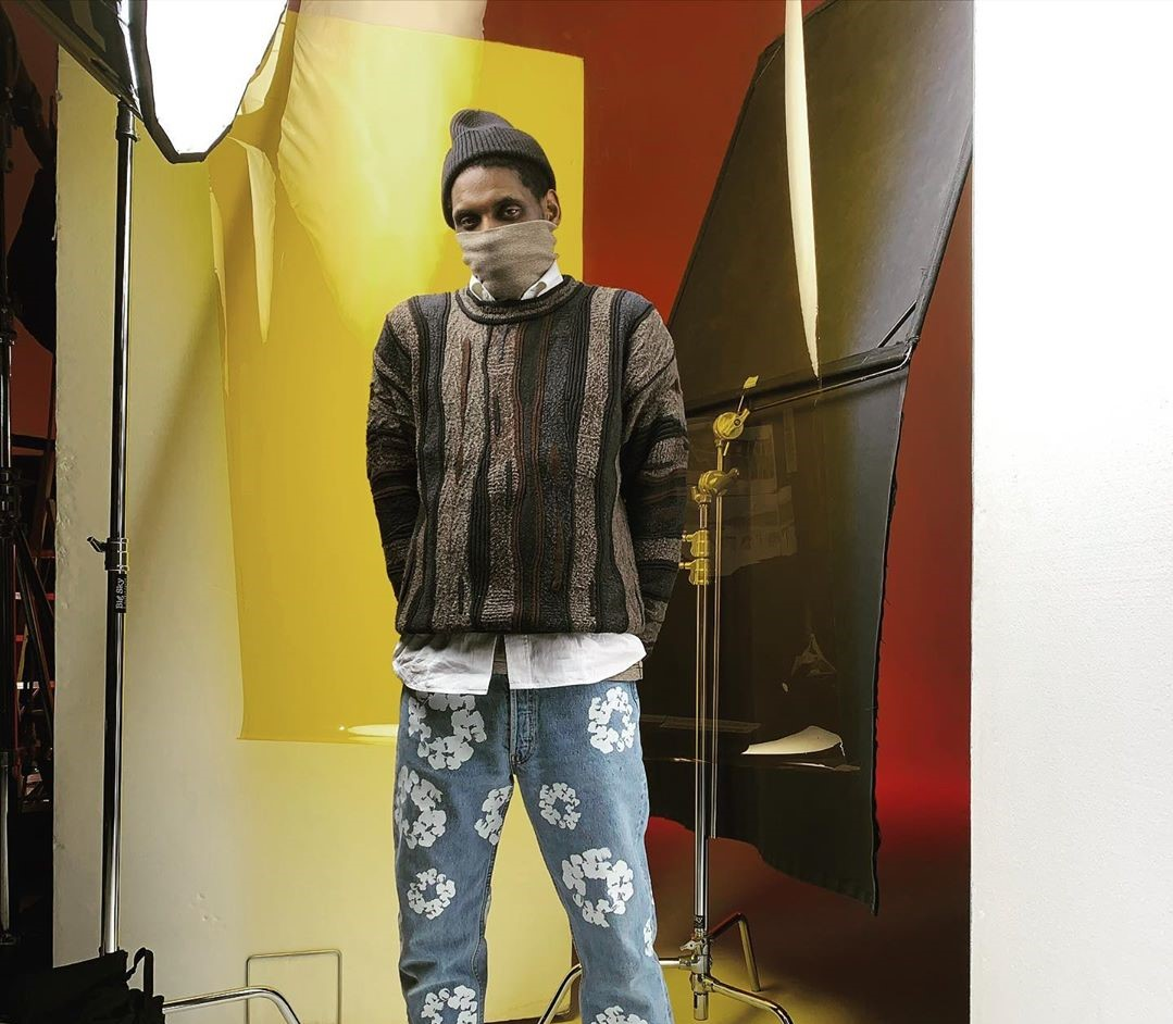 SPOTTED: A$AP Nast poses in Denim Tears Jeans