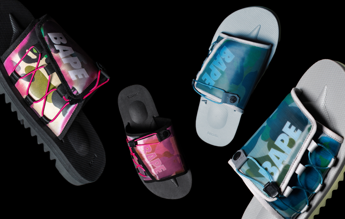 A Bathing Ape customizes Suicoke Sandals for Latest Release