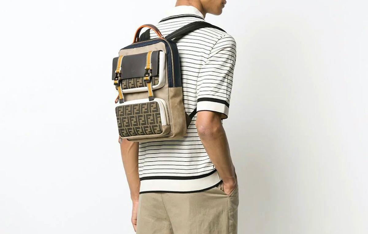 PAUSE or Skip: Fendi FF Logo Multi-Pocket Backpack