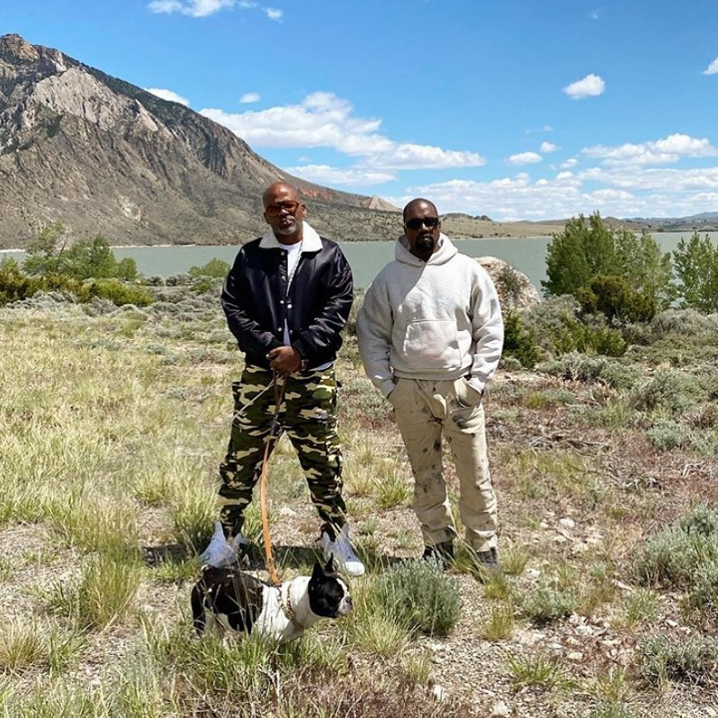SPOTTED: Dame Dash & Kanye West on his Wyoming Ranch