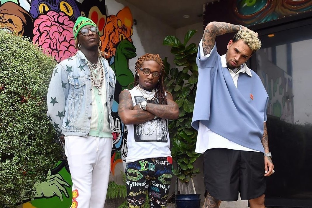 SPOTTED: Young Thug, Jacquees and Chris Brown Flex Fits