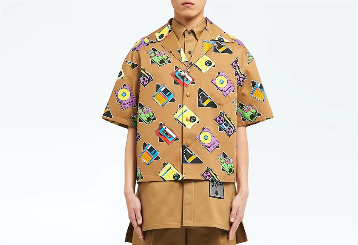 PAUSE or Skip: Prada Maxi Digital Print Oversized Shirt