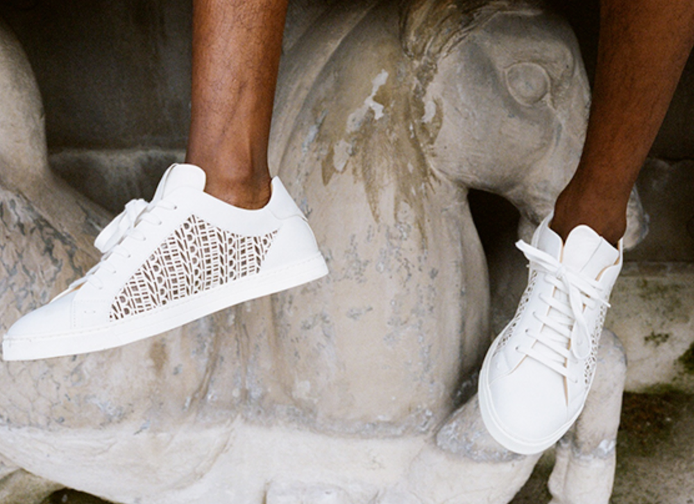 PAUSE or Skip: Fendi Laser Cut Leather Trainers