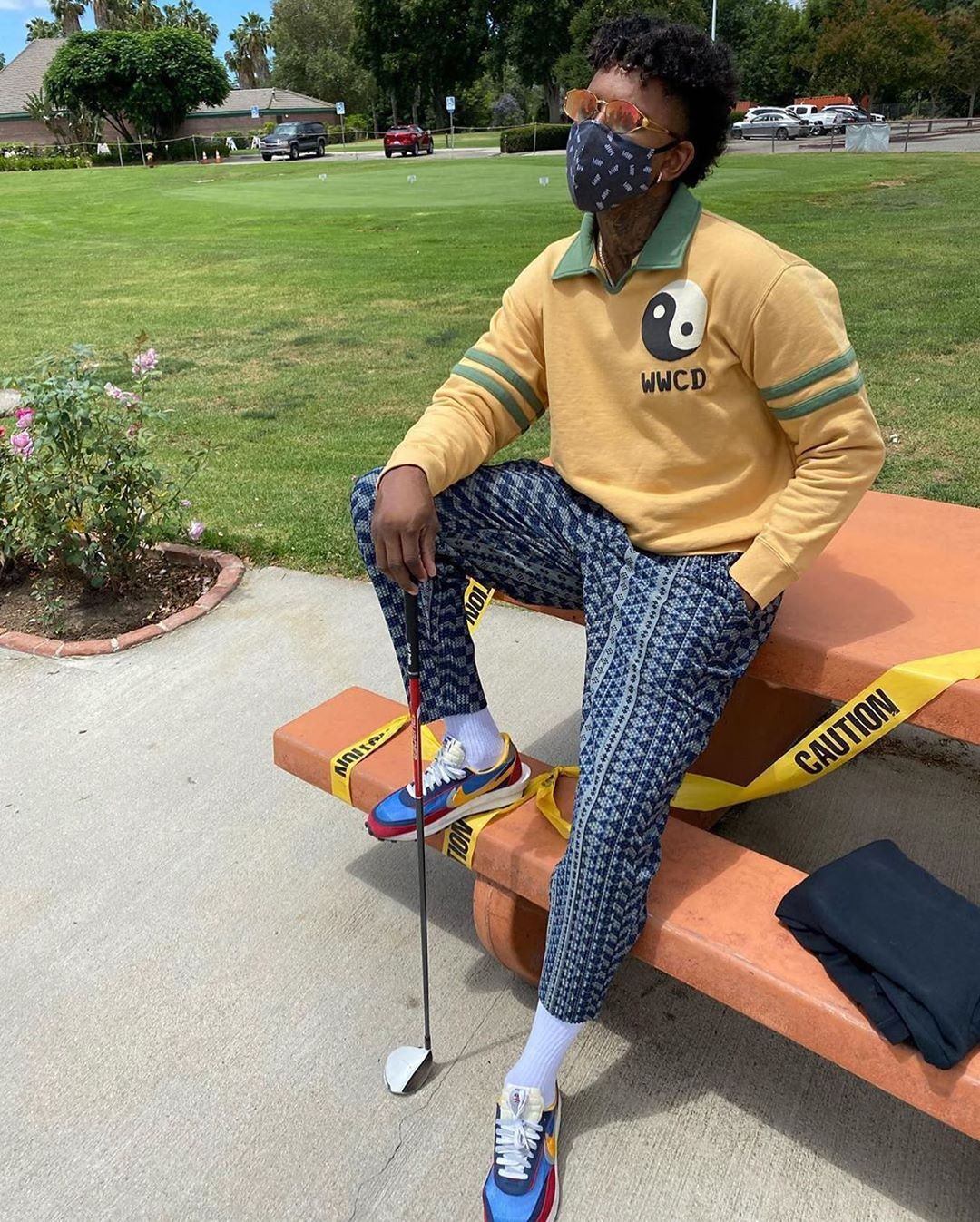 SPOTTED: Nick Young dons Cactus Plant Flea Market & Sacai x Nike Trainers