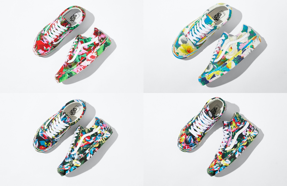 A Closer Look at the Pending Vans x Kenzo Floral Footwear Collab