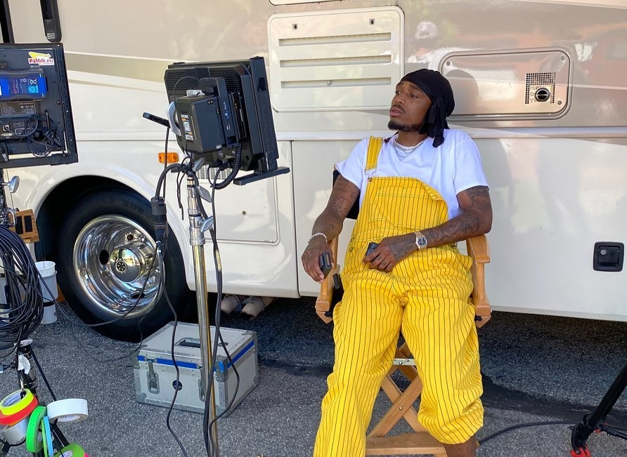SPOTTED: Quavo Flexes in Yellow Dungarees