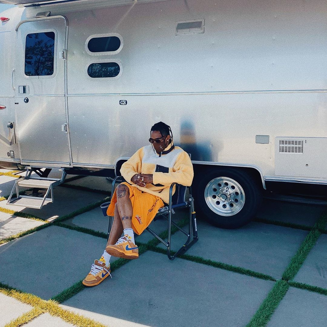 SPOTTED: Travis Scott in Yellow Hues and Rare Nike Dunk's