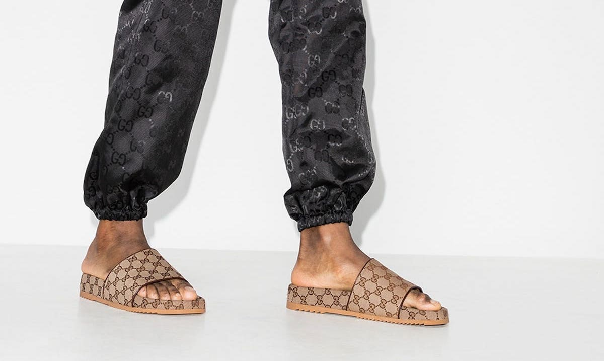 PAUSE or Skip: Gucci Brown GG Supreme Sandals