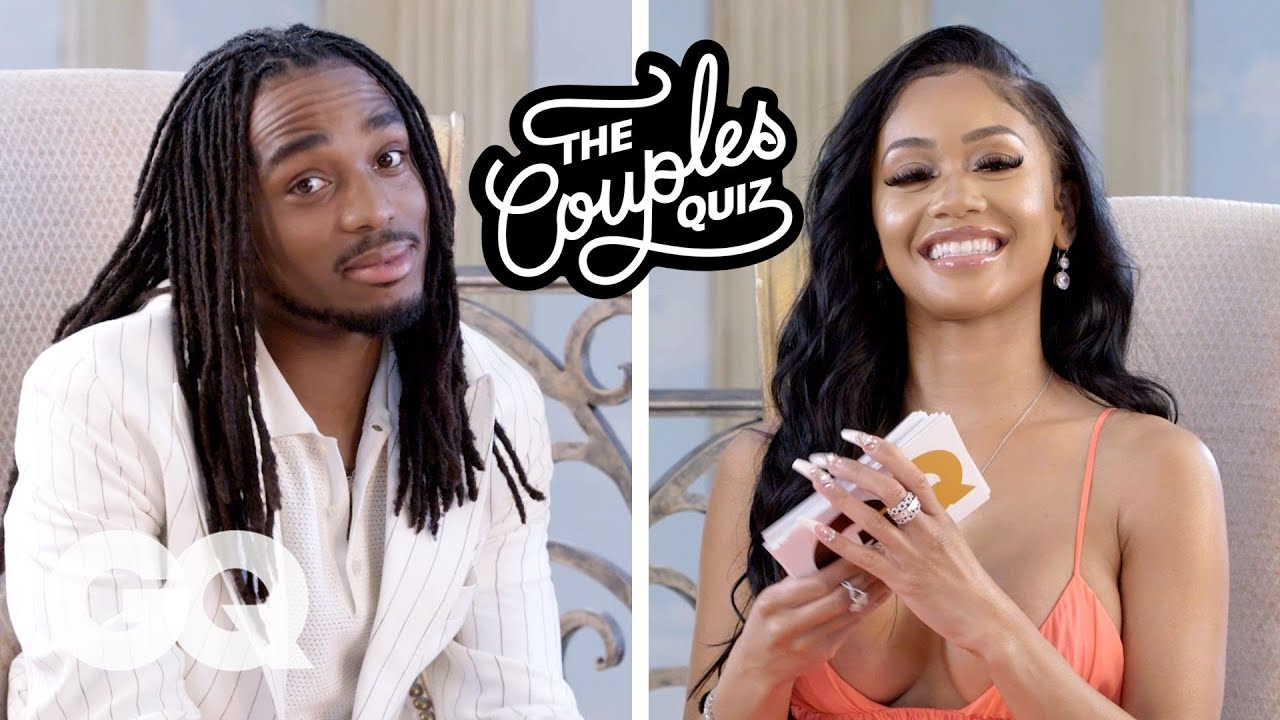 Watch Saweetie Ask Quavo 44 Questions For GQ's Couples Quiz