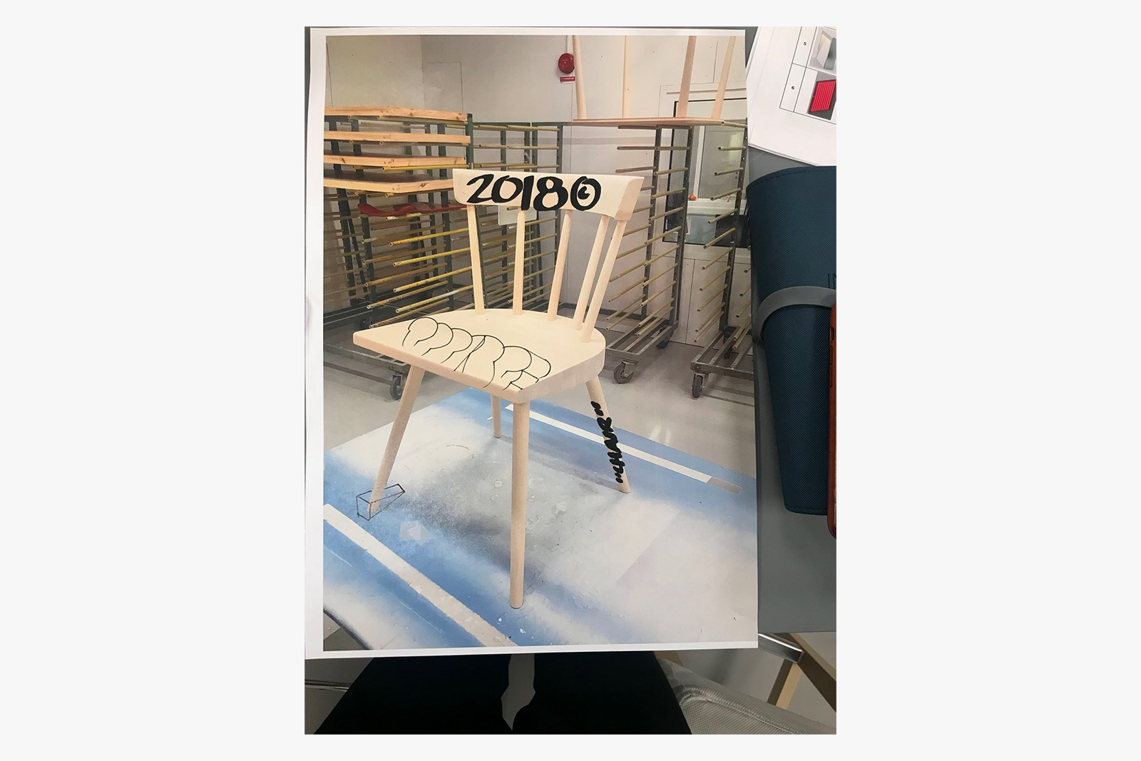 "Virgil Abloh lists Customised ""Doorstop Chair"" for Charity Auction"