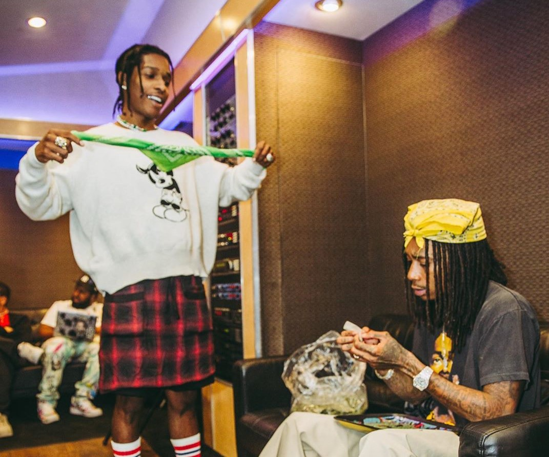 SPOTTED: A$AP Rocky Continues to Rock a Kilt