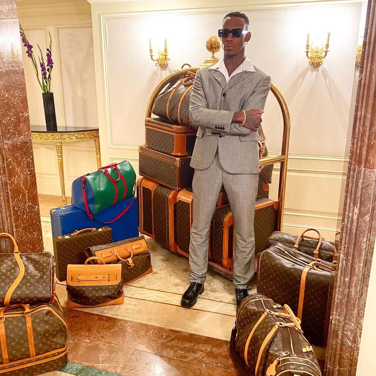 SPOTTED: Octavian Shares Louis Vuitton Luggage Collection