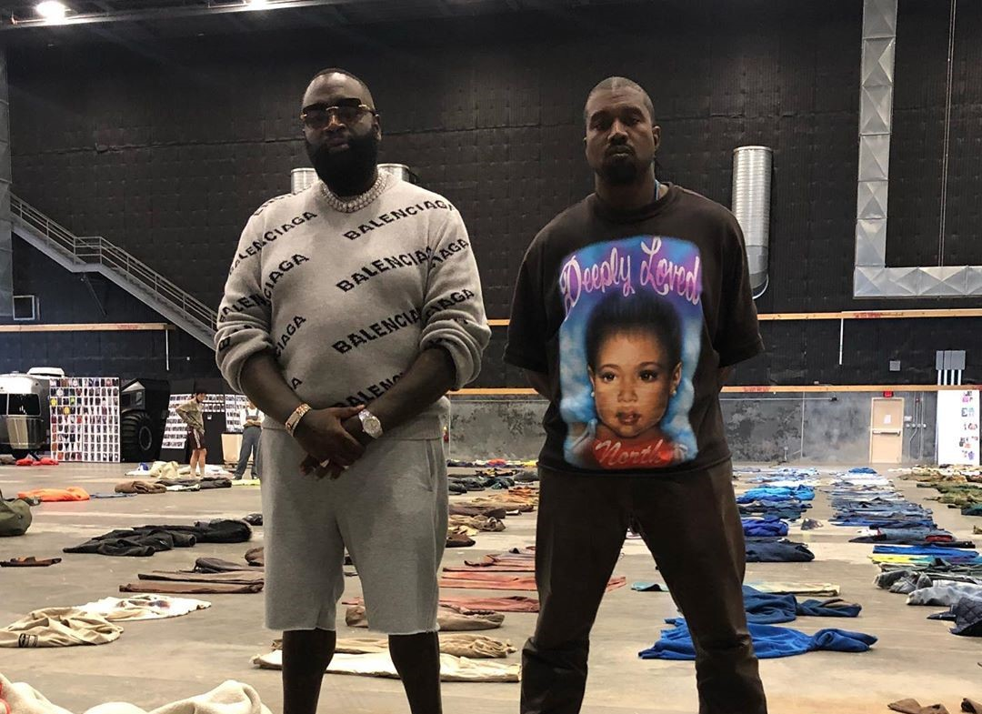 SPOTTED: Kanye West and Rick Ross Pose In-front Unreleased Clothes