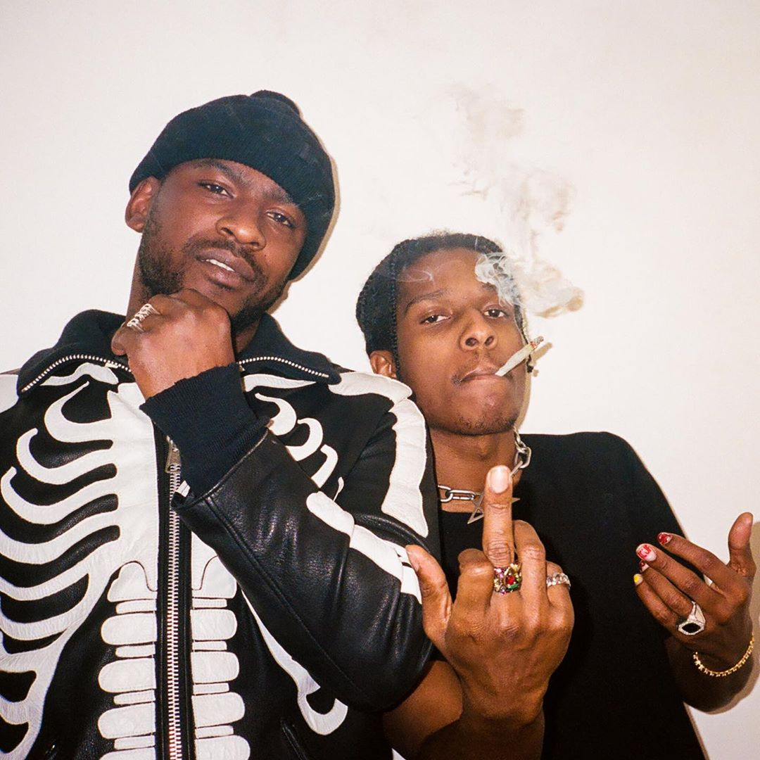 SPOTTED: ASAP Rocky & Skepta in Vlone x Neighborhood Bones Jacket
