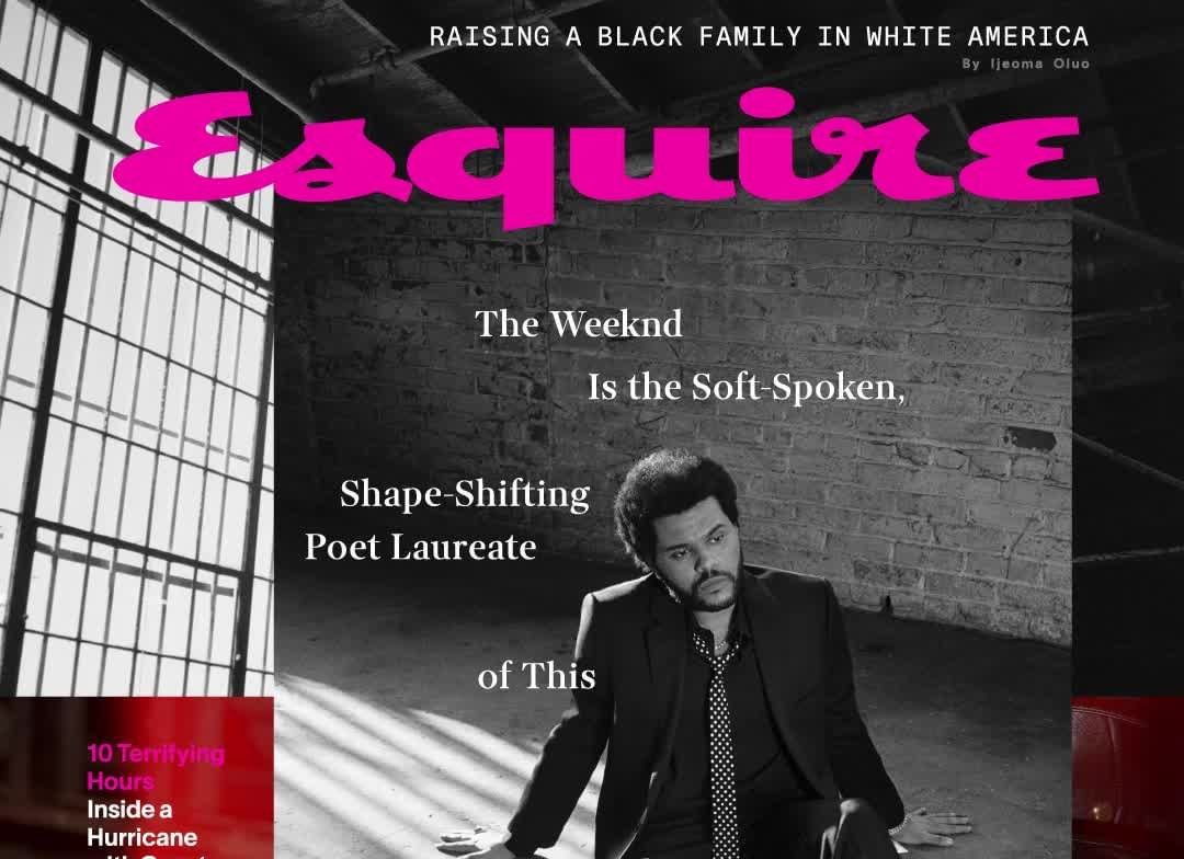 SPOTTED: The Weeknd Covers Esquire's September Issue