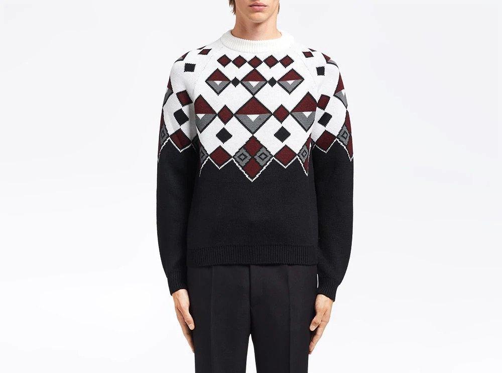 PAUSE or Skip: Prada Argyle Wool Jumper