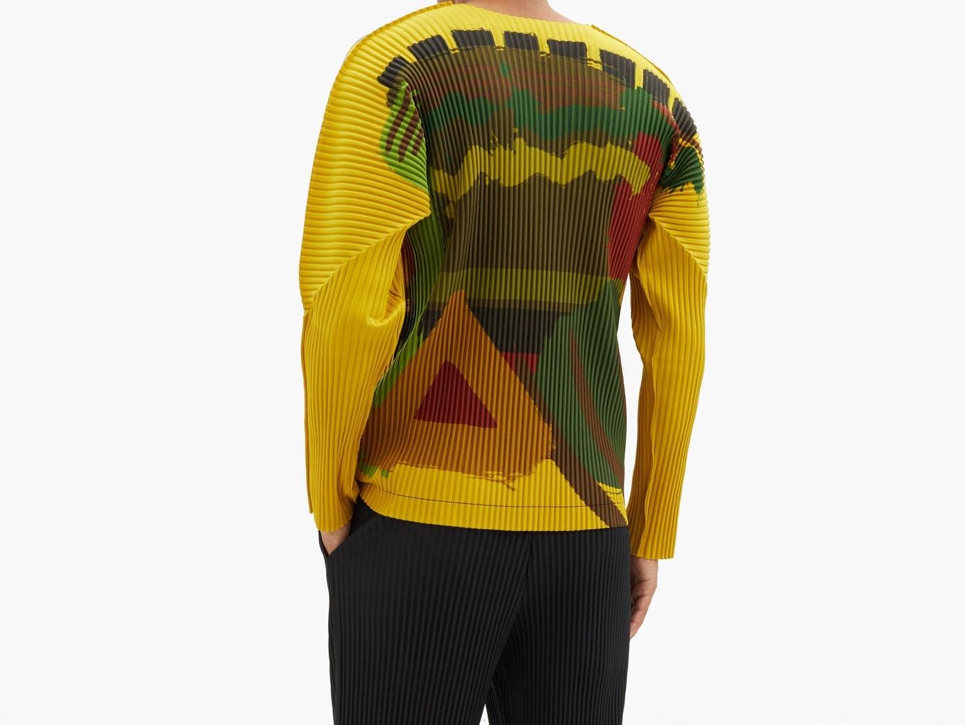 PAUSE or Skip: Homme Plissé Issey Miyake Brushstroke T-Shirt